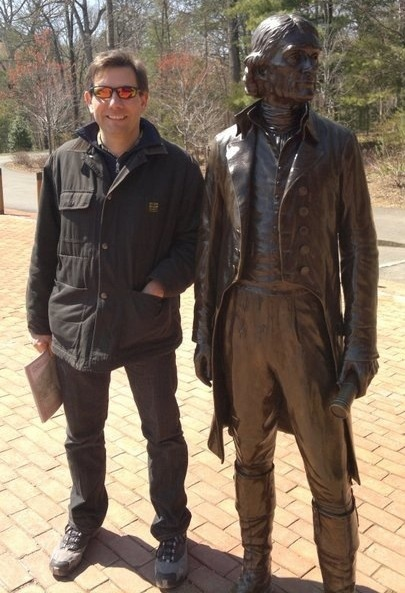 The Author (l), received by President Jefferson. Monticello, 18.... uh....