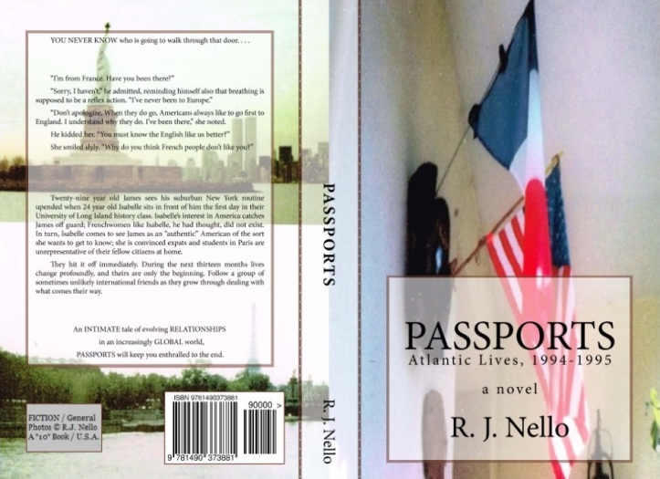 """The back and front covers for """"Passports"""" - the print version. [Copyright © 2013 by R. J. Nello.]"""