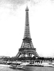 Free Stock Photo: Vintage photo of the Eiffel Tower in Paris, France.