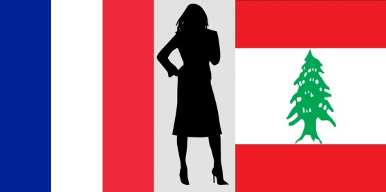 Woman Silhouette with flags