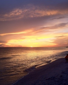 Florida Gulf coast sunset. [Photo by me, 2013.]