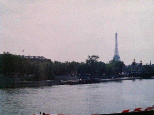 A Paris view. [Very old photo, by me, 1994. Look familiar? It's on the back cover of Passports.]
