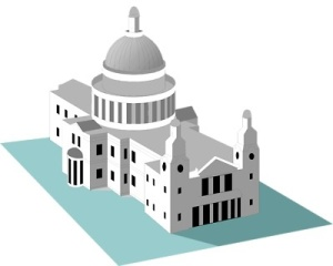 Free Stock Photo: Illustration of St Pauls Cathedral in London, England.