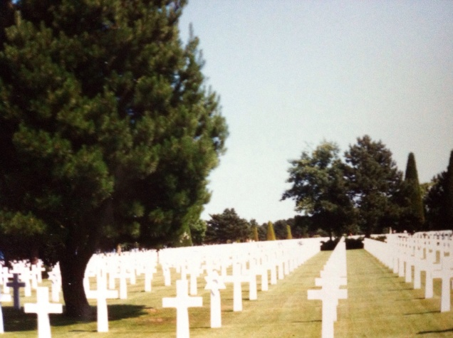 A view of graves at the Normandy American Cemetery and Memorial. [Photo by me, 1995.]