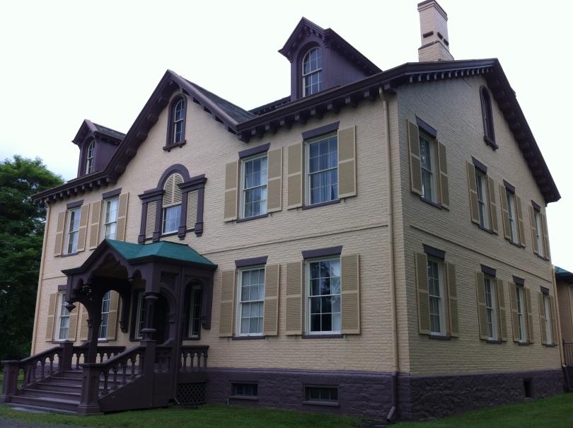 President Martin Van Buren's home, in Kinderhook. [Photo by me, 2014.]