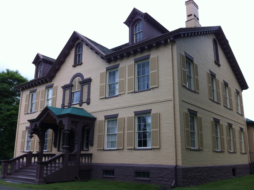 President Martin Van Buren's home, in Kinderhook. [Photo by me, 2014.]
