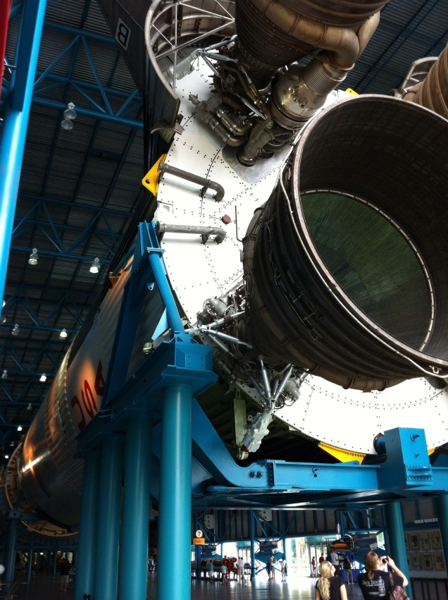 Saturn V rocket on display. Kennedy Space Center. [Photo by me, 2014.]