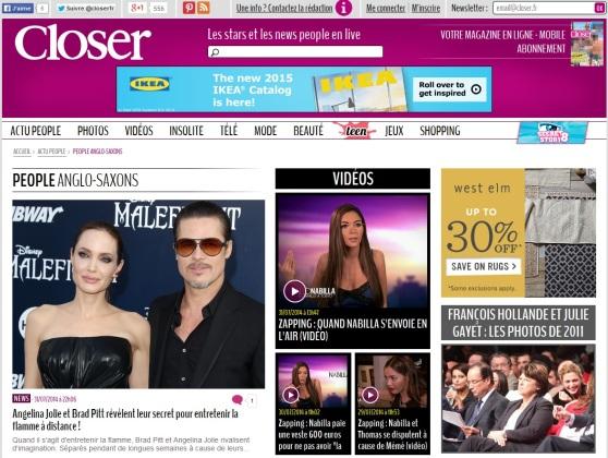 """Screengrab. Closer """"Anglo-Saxon"""" web page, 31 July 2014."""
