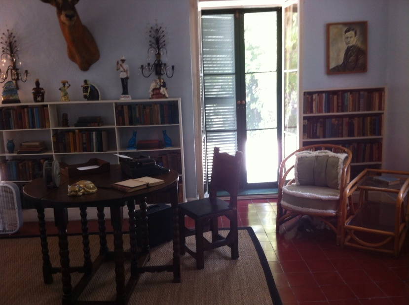 Ernest Hemingway's study, Key West. [Photo by me, 2014.]