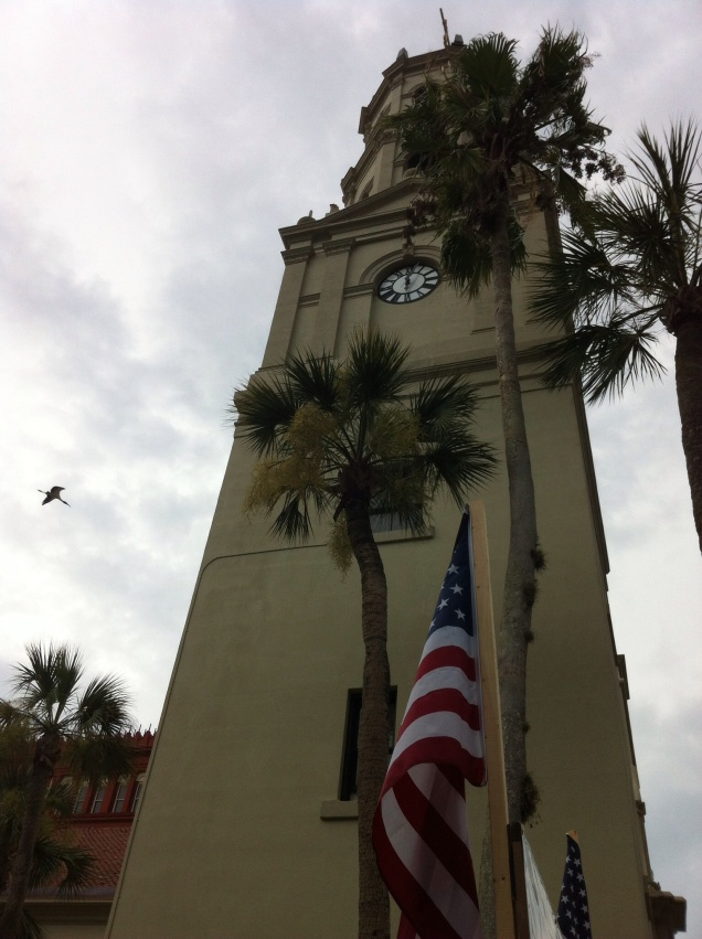 The tower of the Cathedral Basilica of St. Augustine. [Photo by me, 2014.]