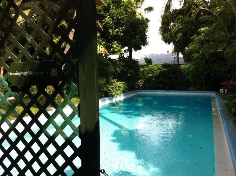 Ernest Hemingway's massive swimming pool, Key West. [Photo by me, 2014.]