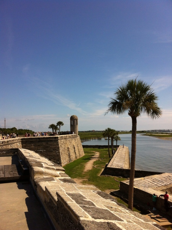 4. Front of the Castillo de San Marcos. [Photo by me, 2014.]