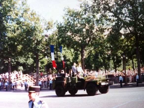 France's President Jacques Chirac. Bastille Day, 1995. [Photo by me, 1995.]