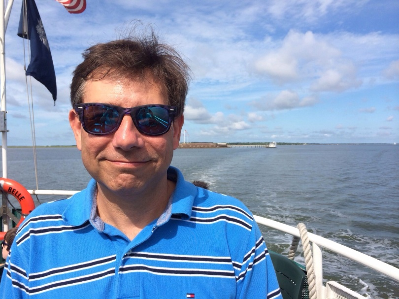 Me. Charleston harbor, South Carolina, July 2014.