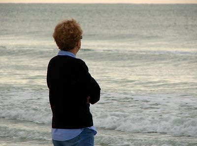 Free Stock Photo: A woman overlooking the ocean.