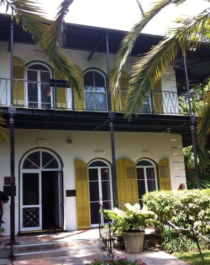 Ernest Hemingway's front door, Key West. [Photo by me, 2014}