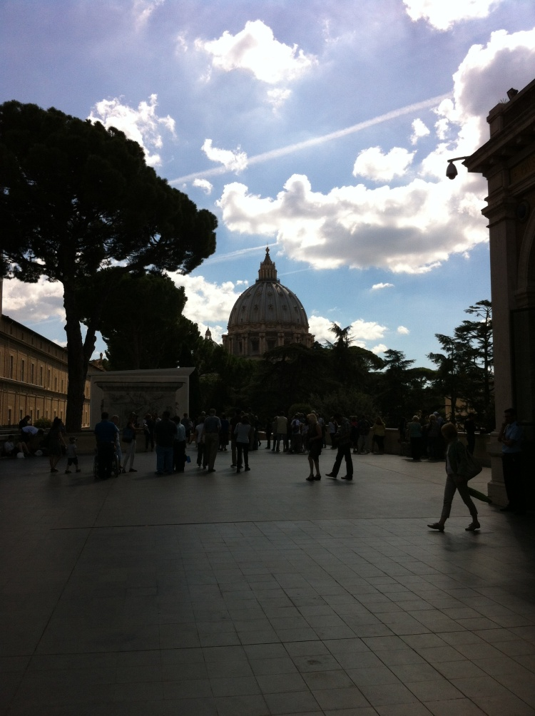 The top of St. Peter's, The Vatican. [Photo by me, 2013.]