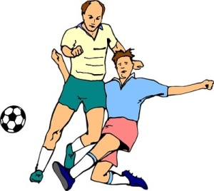 Free Stock Photo: Illustration of men playing soccer.