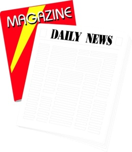 Free Stock Photo: Illustration of a newspaper and magazine.