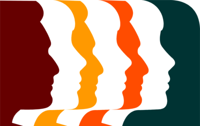 Free Stock Photo: Illustration Of Colored Profiles