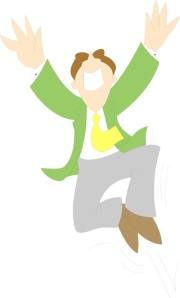 Free Stock Photo: Illustration of a business man jumping.