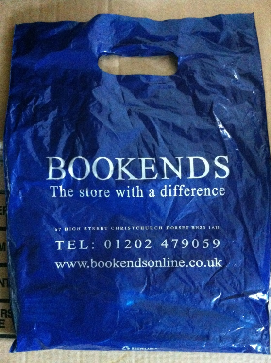 A bag from Bookends, Christchurch, Dorset. [Photo by me, 2014.]