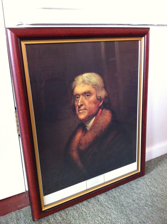 "Rembrandt Peale (1778-1860): ""Thomas Jefferson."" [Photo by me, 2014.]"