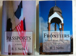 Passports and Frontiers, side by side. [Photo by me, 2014.]
