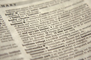 Free Stock Photo: Close-up of the word business in the dictionary.