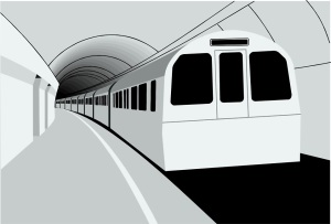 Free Stock Photo: Illustration of a subway train