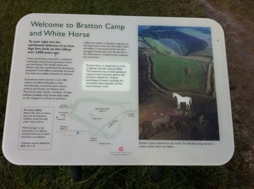 Bratton Camp and White Horse, Wiltshire. [Photo by me, 2014.]