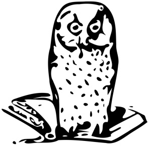 Free Stock Photo: Illustration of an owl on a book.