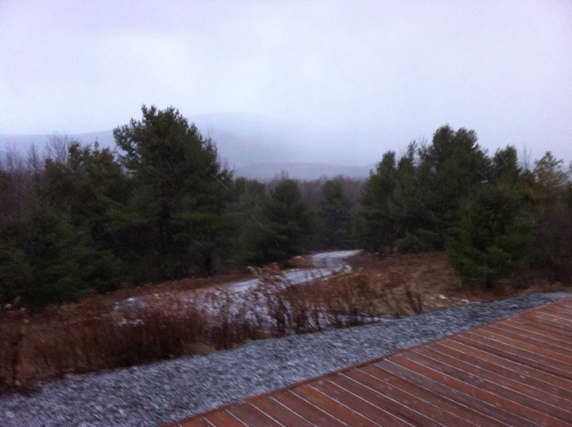 Dusting of Catskills snow yesterday. [Photo by me, 2014.]