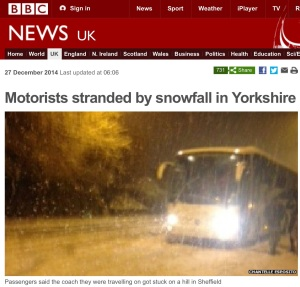 The BBC reporting on a couple of British snow. [Screen capture by me.]