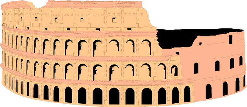 Free Stock Photo: Illustration of the Colosseum in Rome, Italy.
