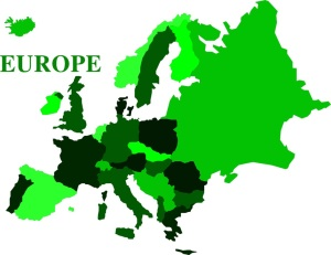 Free Stock Photo: Illustrated map of Europe.