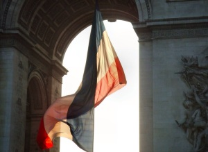 Free Stock Photo: French flag at Arc de Triomphe.