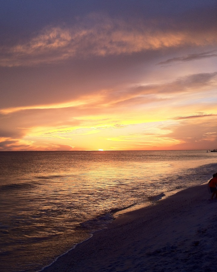 Sunset over the Gulf of Mexico. Anna Maria, Florida. [Photo by me, 2013.]
