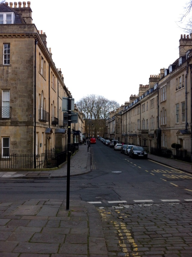 Upper Church Street, next to the Royal Crescent. [Photo by me, 2015.]