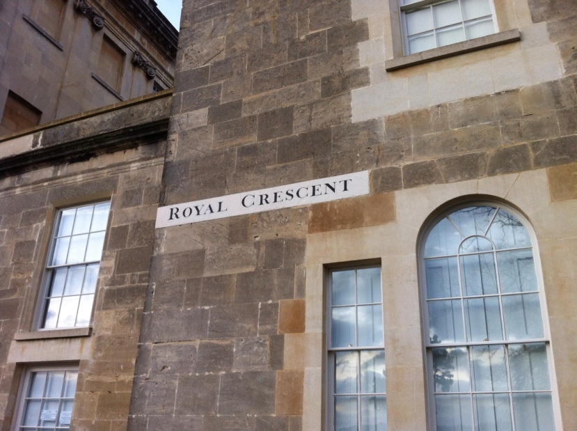 Royal Crescent, in Jane Austen's Bath. [Photo by me, 2015.]