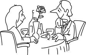 Free Stock Photo: Illustration of a couple having a romantic dinner