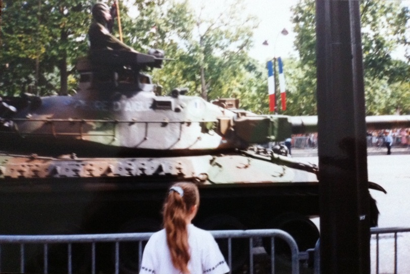 Bastille Day parade, July 1995. [Photo by me.]