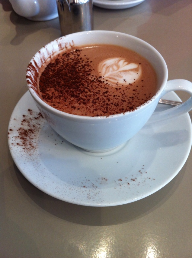 Hot Chocolate, Mes Amis, Beckington. [Photo by me, 2015.]