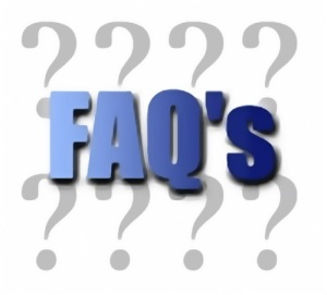 Free Stock Photo: Illustration of question marks and FAQ text.