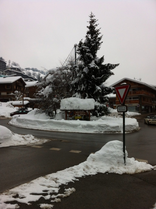 Entry roundabout, La Clusaz, France. [Photo by me, 2015.]