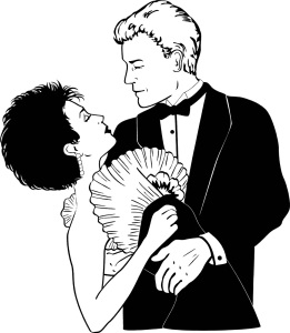 Free Stock Photo:Illustration of a couple dancing.