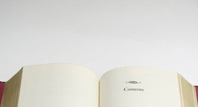 Free Stock Photo: Top of a blank book on a white background.