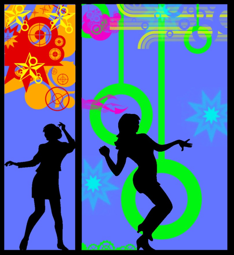 Free Stock Photo: Illustration of dancing silhouettes.