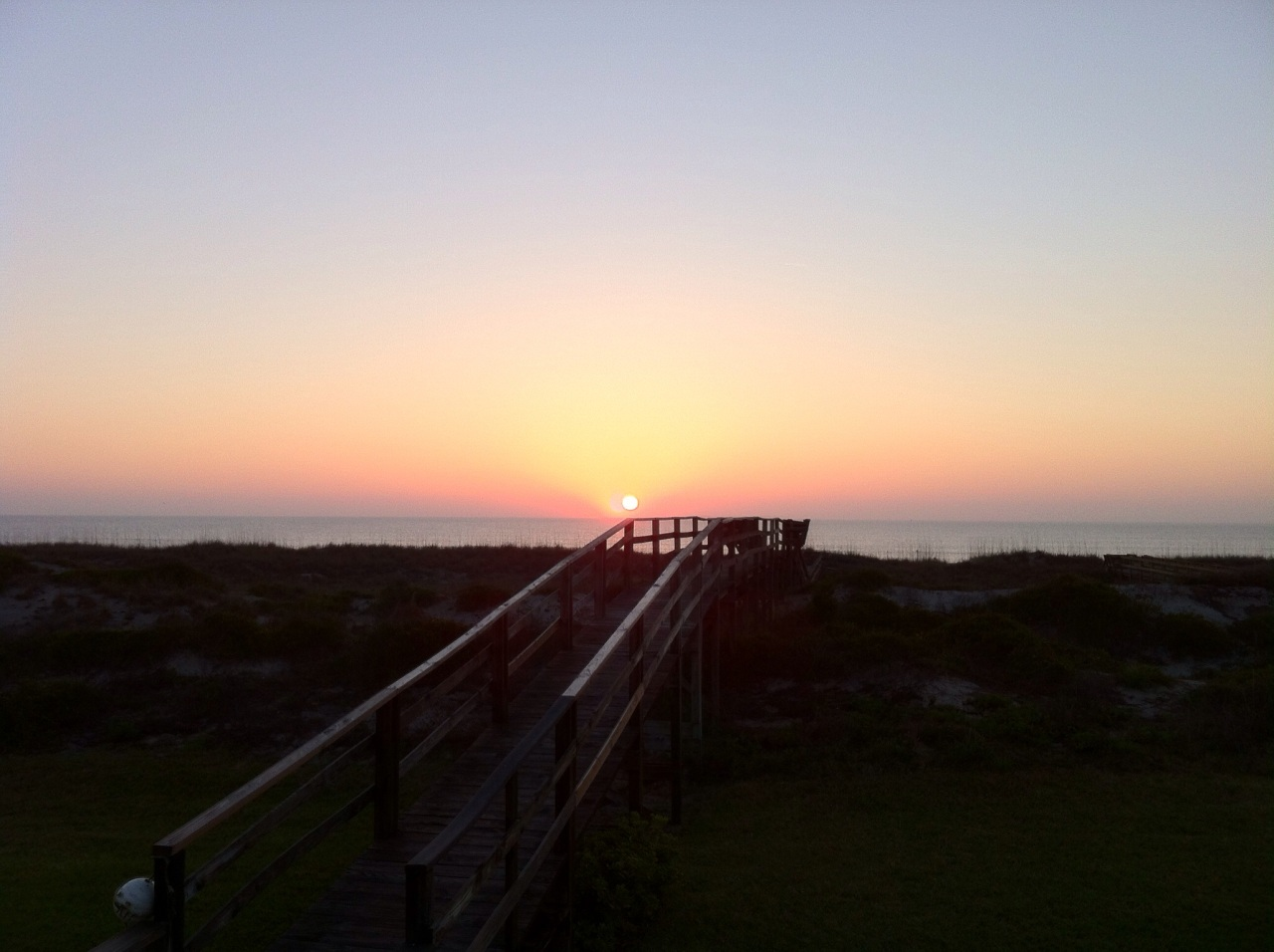 Sunrise yesterday over the Atlantic. Viewed from our Amelia Island holiday rental. [Photo by me, 2015.]