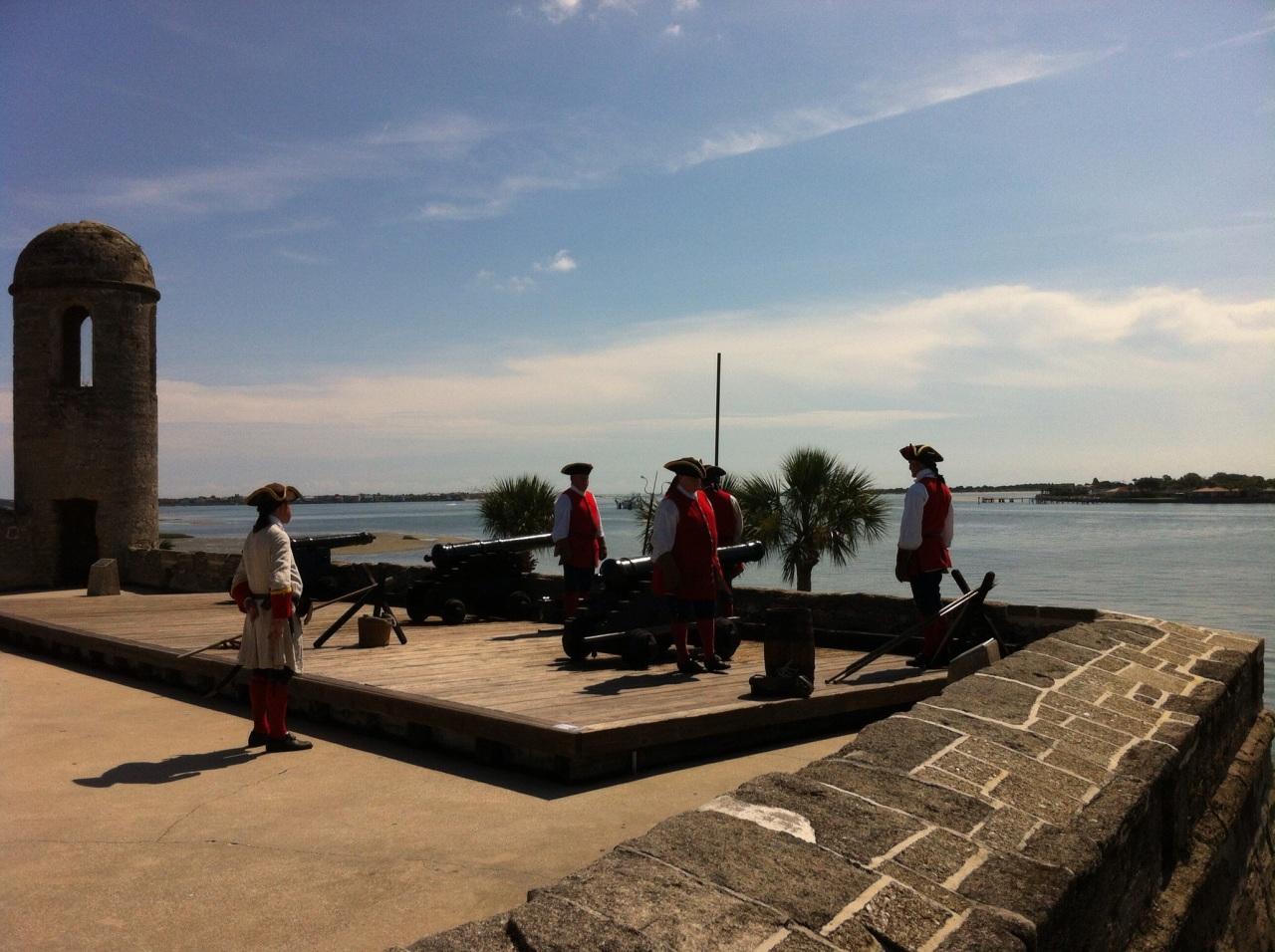Spanish gunnery demonstration, Castillo de San Marcos, St. Augustine, Florida. [Photo by me, 2014.]